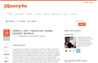 http://www.jquery4u.com/plugins/simple-app-creation-jquery-mobile/
