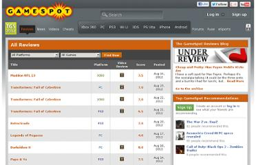 http://www.gamespot.com/reviews.html?type=reviews&mode=all&sort=post_date&dlx_type=all&sortdir=asc&official=all&page=1