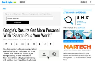 http://searchengineland.com/googles-results-get-more-personal-with-search-plus-your-world-107285