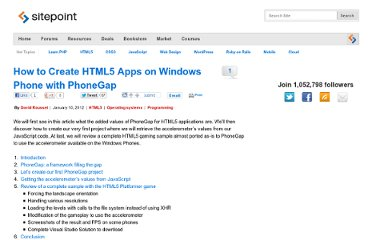 http://www.sitepoint.com/how-to-create-html5-apps-on-windows-phone-with-phonegap/