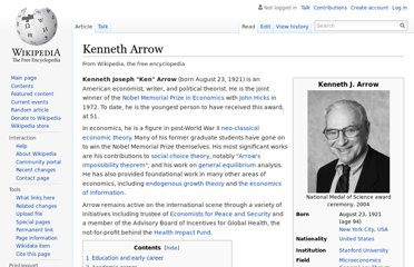 http://en.wikipedia.org/wiki/Kenneth_Arrow