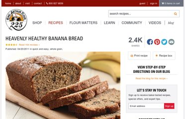 http://www.kingarthurflour.com/recipes/heavenly-healthy-banana-bread-recipe