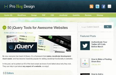 http://www.problogdesign.com/resources/50-jquery-tools-for-awesome-websites/
