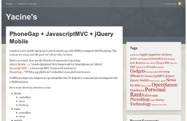 http://yacine.org/2012/01/10/phonegap-javascriptmvc-jquery-mobile/