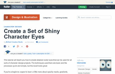 http://vector.tutsplus.com/tutorials/character-design/create-a-set-of-shiny-character-eyes/