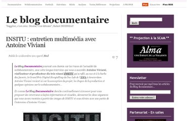 http://cinemadocumentaire.wordpress.com/2011/12/12/insitu-entretien-multimedia-avec-antoine-viviani/