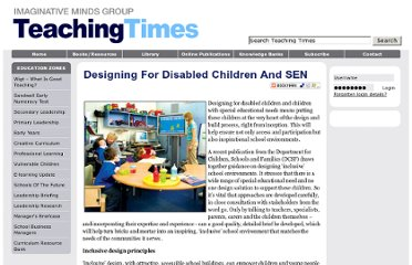 http://www.teachingtimes.com/articles/designing-disabled-children-sen.htm