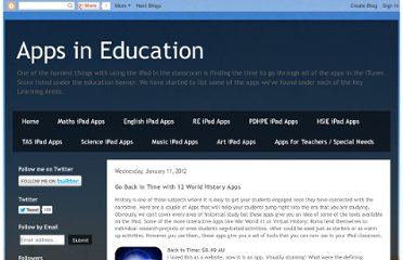 http://appsineducation.blogspot.com/2012/01/go-back-in-time-with-12-world-history.html