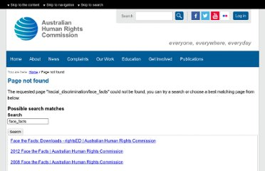 http://www.humanrights.gov.au/racial_discrimination/face_facts/