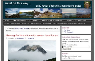 http://www.andyhowell.info/trek-blog/2011/05/24/planning-the-haute-route-pyrenees-david-lintern/
