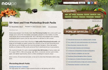 http://www.noupe.com/photoshop/50-new-and-free-photoshop-brush-packs.html