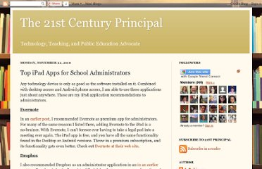 http://the21stcenturyprincipal.blogspot.com/2010/11/top-ipad-apps-for-school-administrators.html