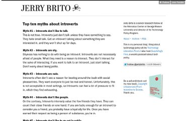 http://jerrybrito.org/post/6114304704/top-ten-myths-about-introverts?1d4ef638