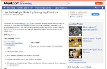 http://marketing.about.com/cs/advertising/ht/5steps2strategy.htm