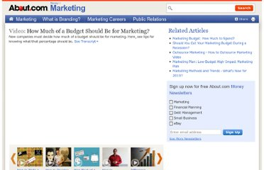 http://video.about.com/marketing/How-Much-of-a-Budget-Should-Be-for-Marketing-.htm