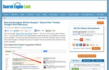 http://searchengineland.com/examples-google-search-plus-drive-facebook-twitter-crazy-107554