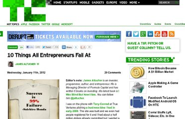 http://techcrunch.com/2012/01/11/10-things-all-entrepreneurs-fail-at/