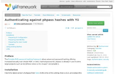 http://yii.te.gd/wiki/240/authenticating-against-phpass-hashes-with-yii/