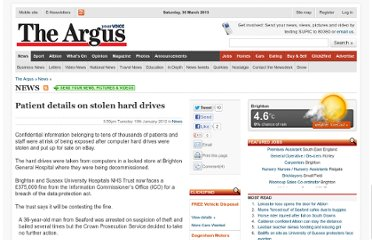 http://www.theargus.co.uk/news/9462435.Patient_details_on_stolen_hard_drives/