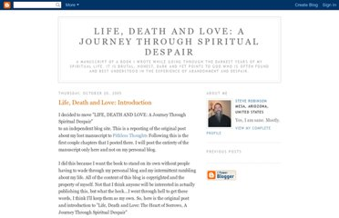 http://lifedeathlove.blogspot.com/2005/10/life-death-and-love-introduction.html