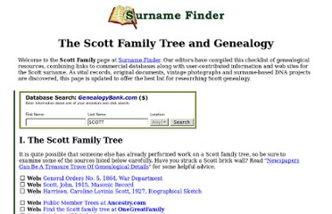 http://www.genealogytoday.com/surname/finder.mv?Surname=Scott