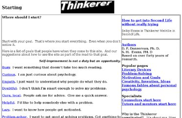 http://www.thinkerer.org/Background/BakWhereStart.htm