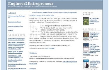 http://engineer2entrepreneur.typepad.com/engineer2entrepreneur/2005/01/getting_things_.html
