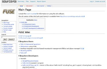http://fuse.sourceforge.net/wiki/index.php/FileSystems