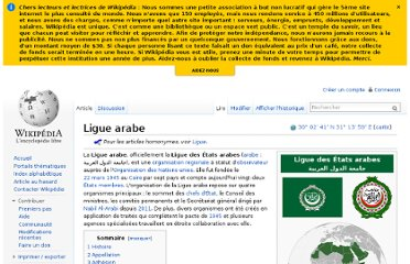 http://fr.wikipedia.org/wiki/Ligue_arabe