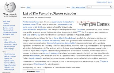 http://en.wikipedia.org/wiki/List_of_The_Vampire_Diaries_episodes