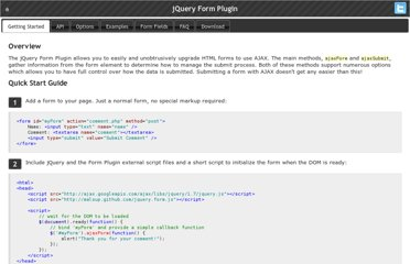 http://malsup.com/jquery/form/#getting-started