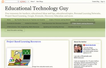 http://educationaltechnologyguy.blogspot.com/p/project-based-learning.html
