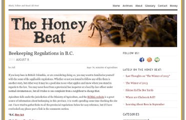 http://thehoneybeat.com/2011/08/beekeeping-regulations-in-b-c/