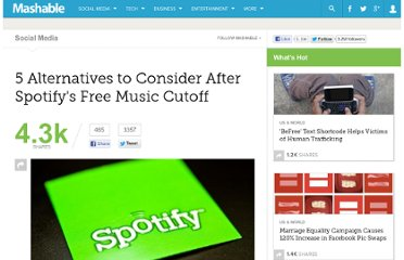 http://mashable.com/2012/01/11/spotify-music-streaming-alternatives/