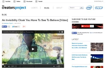 http://www.thecreatorsproject.com/blog/an-invisibility-cloak-you-have-to-see-to-believe-video