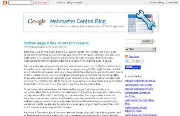 http://googlewebmastercentral.blogspot.com/2012/01/better-page-titles-in-search-results.html
