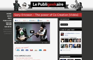 http://publigeekaire.com/2010/02/sony-ericsson-the-power-of-co-creation-video/