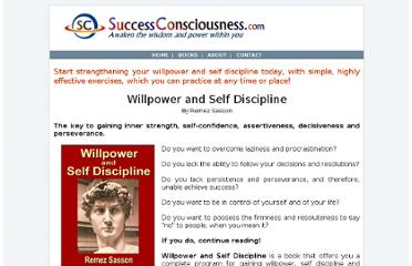 http://www.successconsciousness.com/books/willpower-and-self-discipline.html