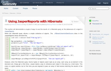 https://community.jboss.org/wiki/UsingJasperReportsWithHibernate