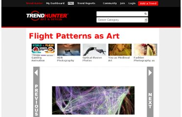 http://www.trendhunter.com/trends/aaron-koblin-flight-patterns
