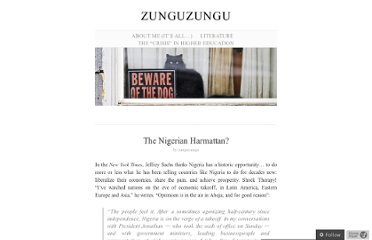 http://zunguzungu.wordpress.com/2012/01/11/the-nigerian-harmattan/