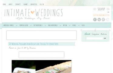 http://www.intimateweddings.com/blog/diy-wedding-programs-from-burlap-and-vintage-patterned-paper/
