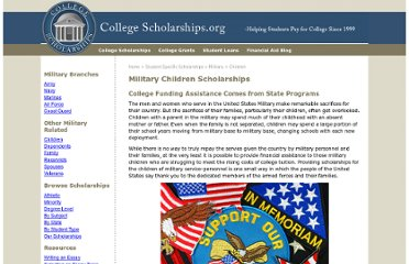 http://www.collegescholarships.org/scholarships/children.htm
