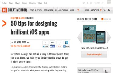 http://www.computerarts.co.uk/features/50-tips-designing-brilliant-ios-apps