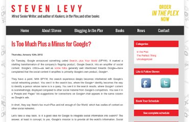 http://www.stevenlevy.com/index.php/01/12/is-too-much-plus-is-a-minus-for-google