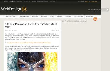 http://webdesign14.com/100-best-photoshop-photo-effects-tutorials-of-2011/