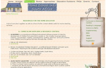 http://homeschoolinfo.co.za/resources.html