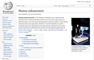 http://en.wikipedia.org/wiki/Human_enhancement#Technologies