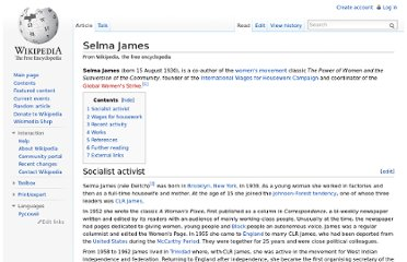 http://en.wikipedia.org/wiki/Selma_James