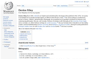 http://en.wikipedia.org/wiki/Denise_Riley